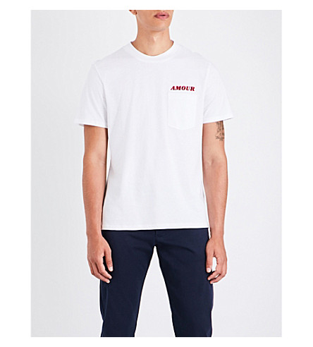 SANDRO Amour cotton T-shirt (White