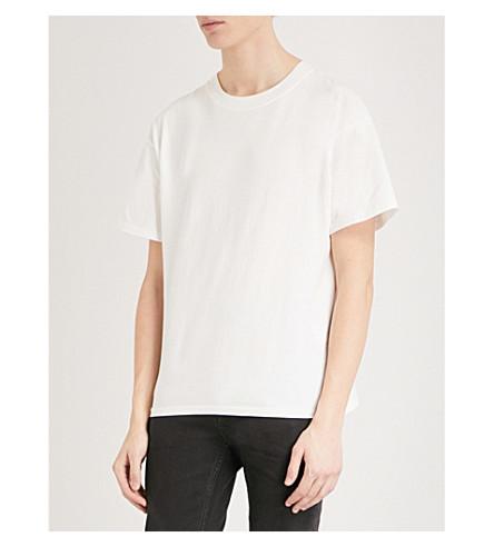 SANDRO Crewneck cotton-jersey T-shirt (White