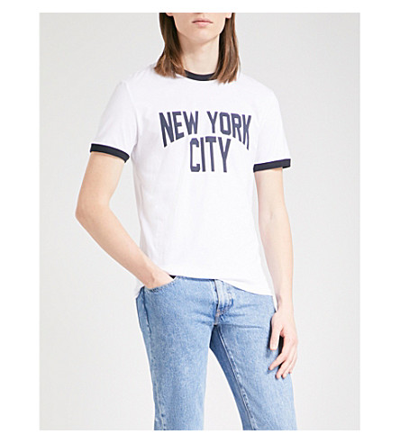 SANDRO Slogan cotton-jersey T-shirt (Ecru