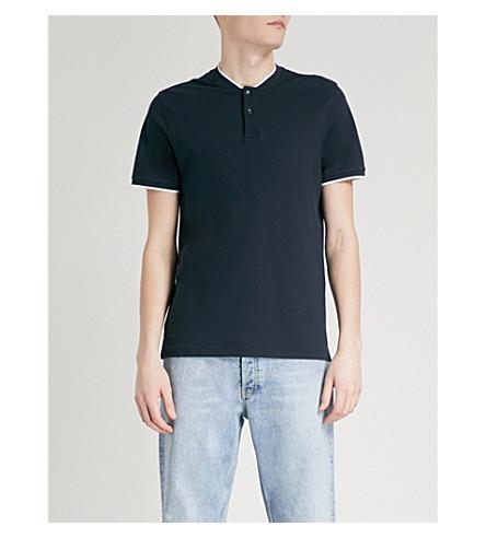 contraste ribete algodón Azul marino Camiseta en SANDRO de con EqTYxzwI