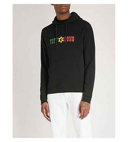 SANDRO Tuff Gong printed cotton hoody (Black