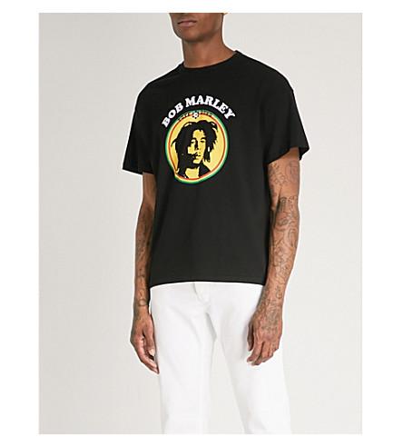 SANDRO Bob Marley logo cotton T-shirt (Black