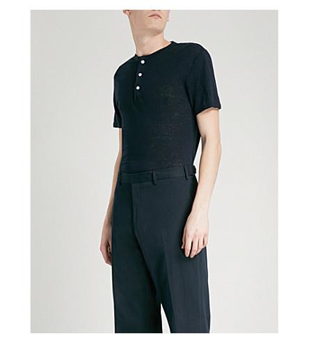 marina camiseta SANDRO botones lino con aTW41aY0q
