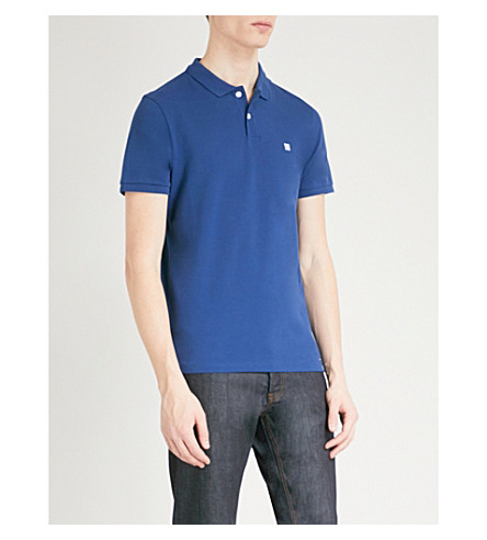 SANDRO Cotton polo shirt (Bleu