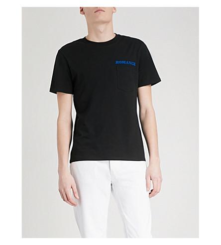 SANDRO Romance cotton-jersey T-shirt (Black