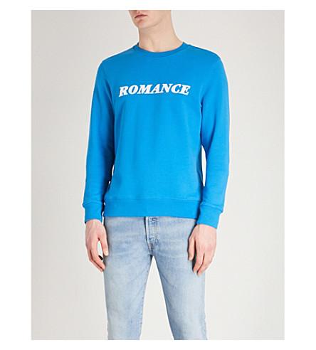SANDRO Romance flock print sweatshirt (Blue