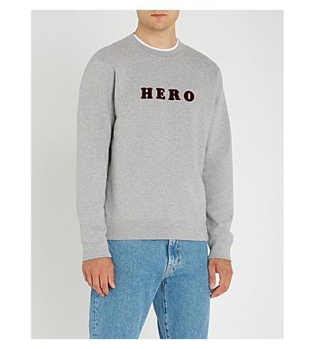 SANDRO 英雄平纹针织棉毛衣 (嘲讽 + 灰色