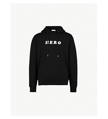 SANDRO 英雄平纹针织棉帽衫 (黑色