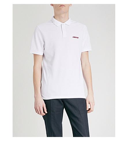 SANDRO Amour cotton-piqué polo shirt (Blanc