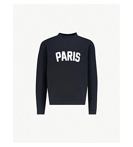 SANDRO 巴黎平纹针织棉毛衣 (海军 + 蓝色