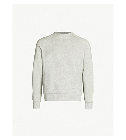 SANDRO 条纹棉混纺卫衣 (嘲讽 + 灰色