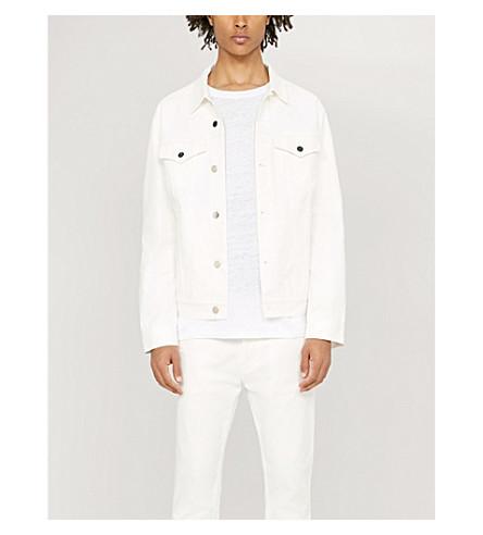 SANDRO Crewneck linen-jersey T-shirt (Blanc