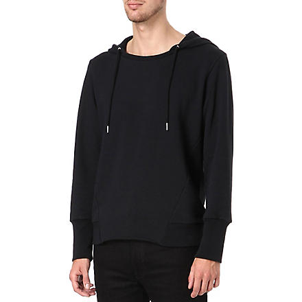 SANDRO Knitted hoody (Black