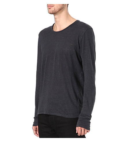SANDRO Insight knitted t-shirt (Slate-grey
