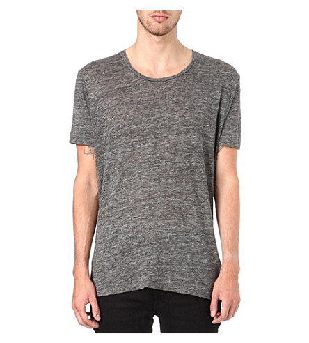 SANDRO Road knitted t-shirt (Grey