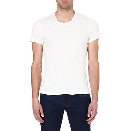 SANDRO Flecked jersey t-shirt (White