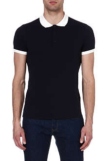 SANDRO Contrast collar polo shirt