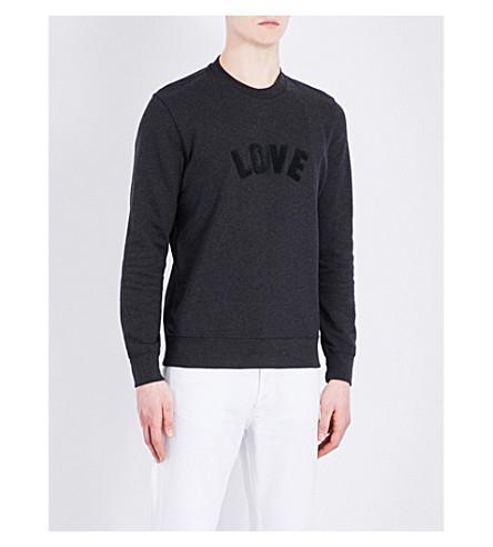 SANDRO Love cotton sweatshirt (Charcoal+grey
