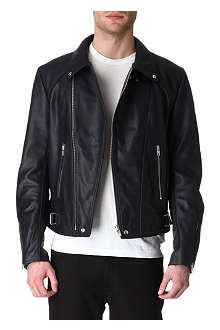 SANDRO Perfect leather jacket