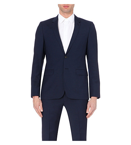 SANDRO Wool and mohair-blend suit jacket (Blue