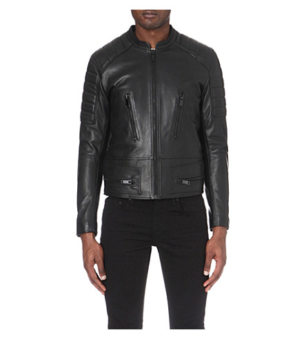 SANDRO Speedway leather jacket (Noir