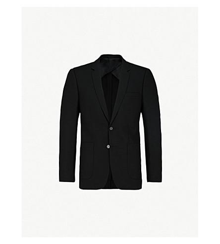 SANDRO 常规版型羊毛混纺夹克 (黑色