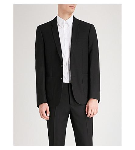 SANDRO Regular-fit wool-blend jacket (Black