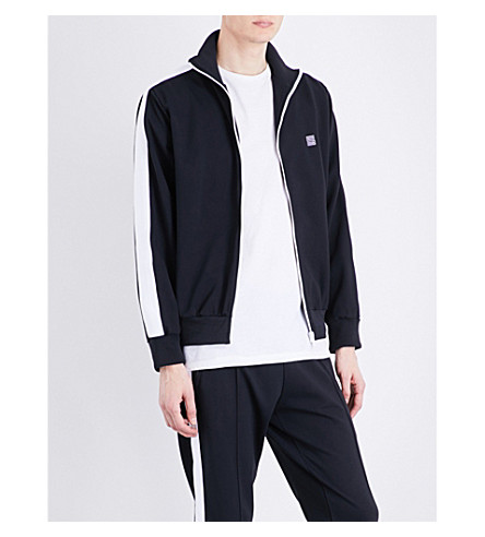SANDRO Jersey track jacket (Navy+blue