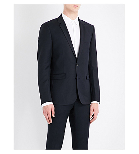 SANDRO Regular-fit wool jacket (Navy+blue