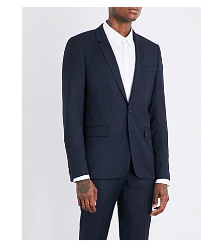 SANDRO Birdseye wool blazer (Blue