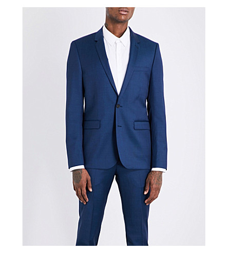 SANDRO Slim-fit wool blazer (Indigo