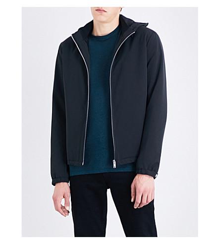 SANDRO Hooded shell jacket (Black