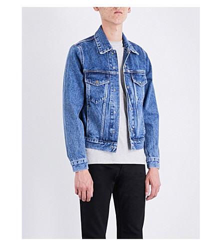 SANDRO Faded denim jacket (Blue+vintage+-+denim