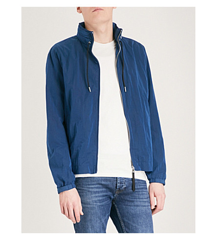 SANDRO Hooded shell jacket (Blue