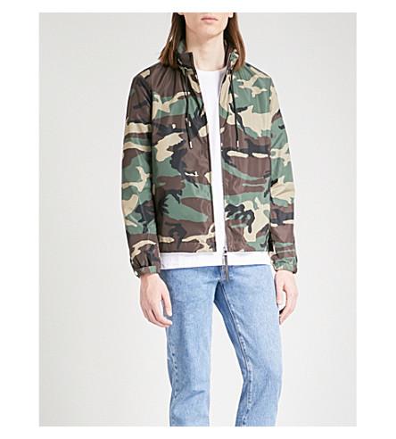 SANDRO Camouflage-print shell jacket (Khaki
