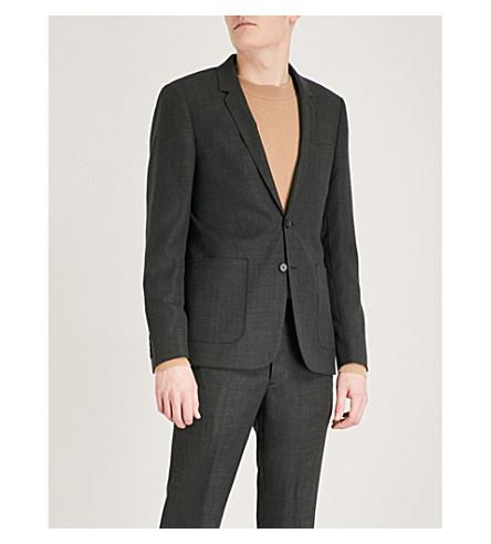SANDRO Slim-fit wool jacket (Grey