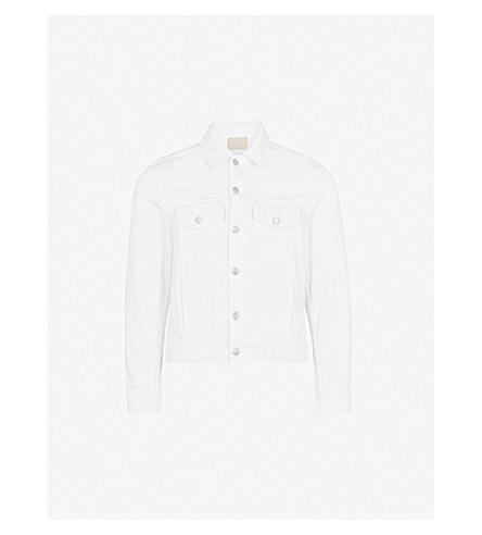 SANDRO Pocket-detailed denim jacket (White