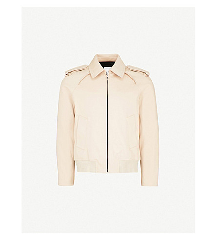 SANDRO Cropped cotton-twill trench coat (Beige