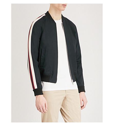 SANDRO University woven bomber jacket (Marine