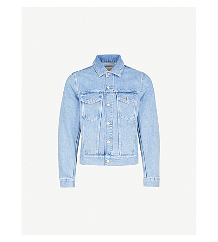 SANDRO Light-washed denim jacket (Blue+vintage+++denim