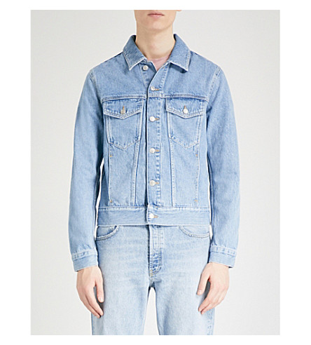 SANDRO Light-washed denim jacket (Blue+vintage+-+denim