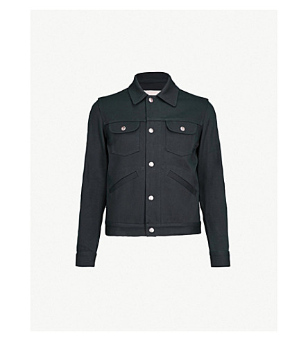 SANDRO Patch-pocket cotton jacket (Marine