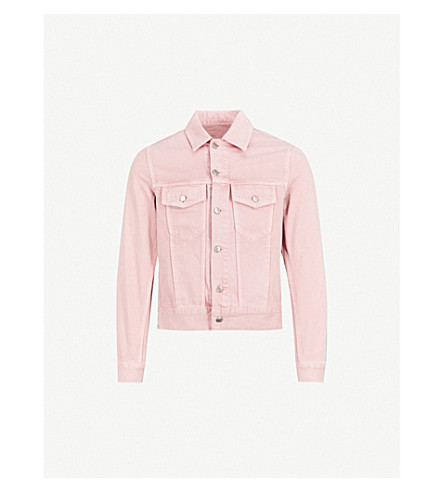SANDRO Popper-fastened denim jacket (Pink