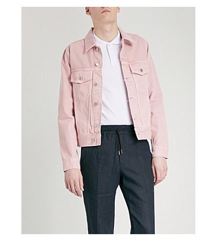 SANDRO Popper-fastened denim jacket (Pink