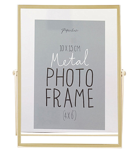 PAPERCHASE Avellino brass photo frame 4