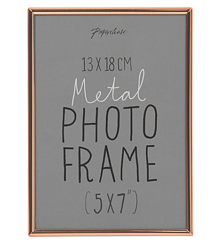 PAPERCHASE Lucera copper photo frame 5