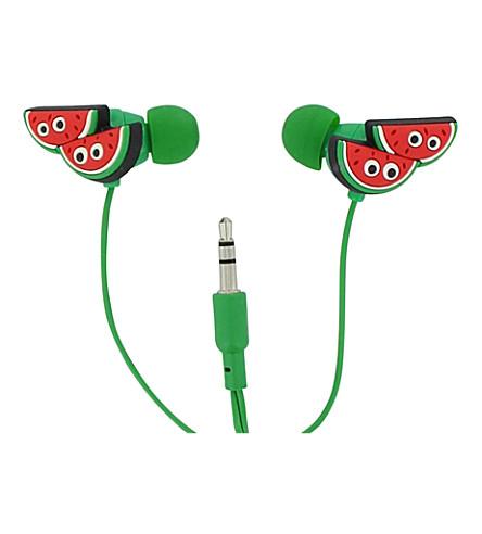 PAPERCHASE Watermelon in-ear headphones