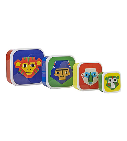 PAPERCHASE Monkey Puzzle set of four snack boxes