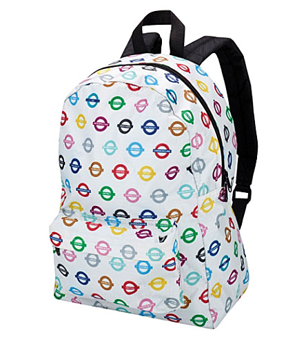 PAPERCHASE All Change tube-print canvas backpack