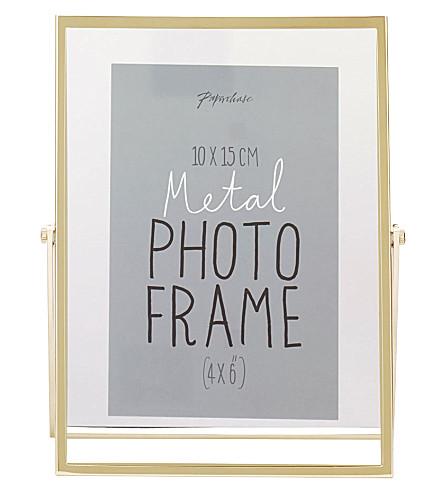PAPERCHASE Avellino brass photo frame 4x6